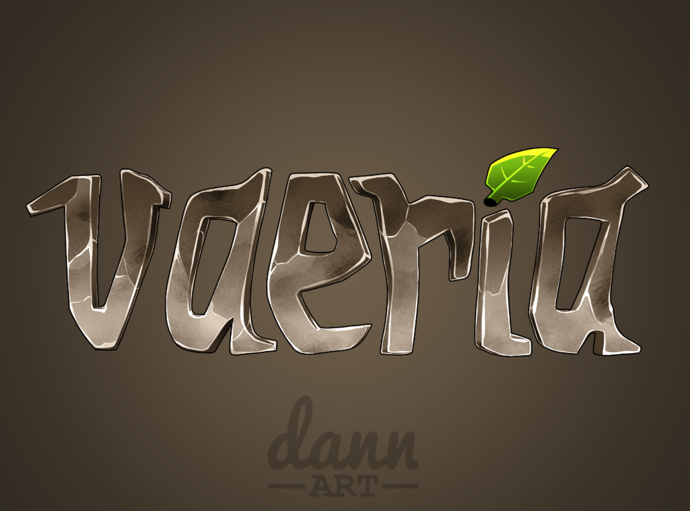 Vaeria's nature themed logo wants you to become vegan!