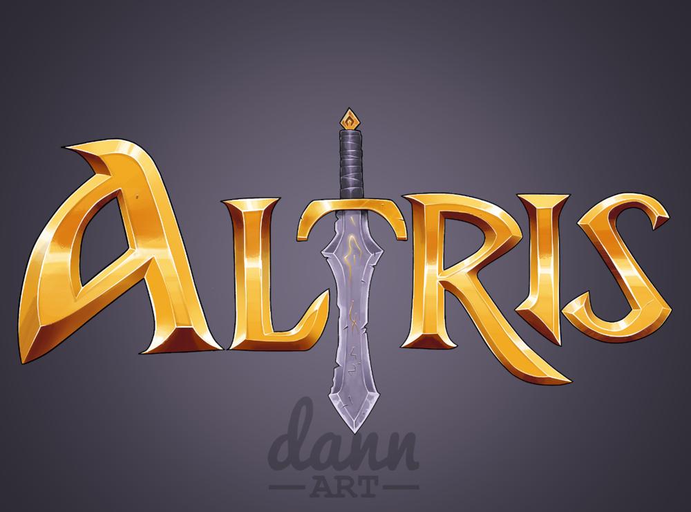Very high quality Dann Art medieval server logo.