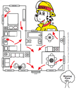 Your ability to get out depends on advance warning from smoke alarms and planning