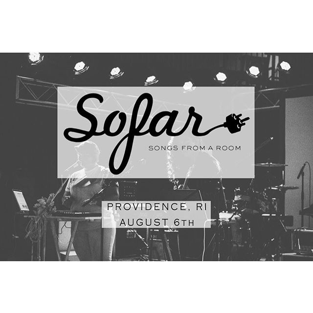 Playing a @sofarsounds show in Providence, RI tonight. ◾️◽️