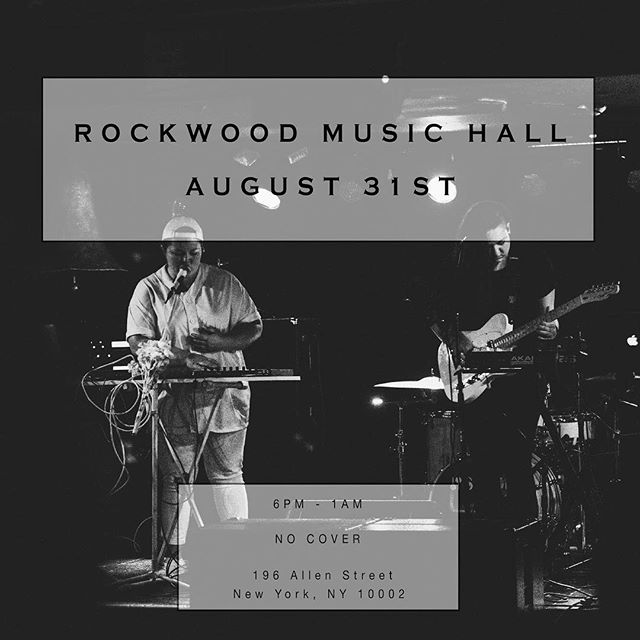 •NYC TONIGHT• Catch us at @rockwoodmusichall, we're closing out the show at midnight! Stay up and come hang out with us. ◼️◻️