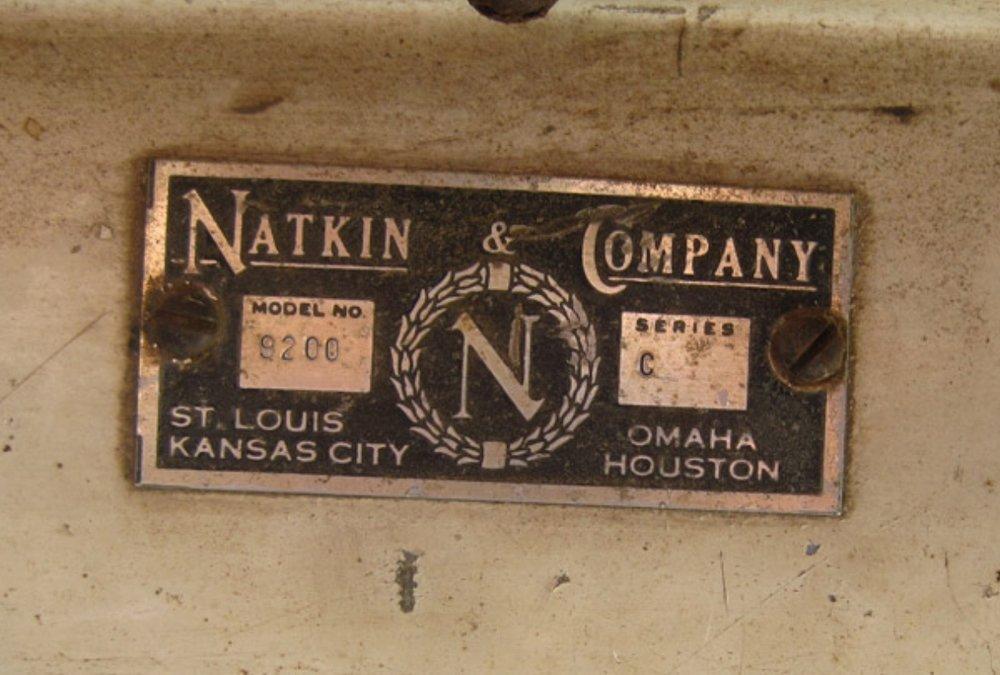 Natkin ID plate