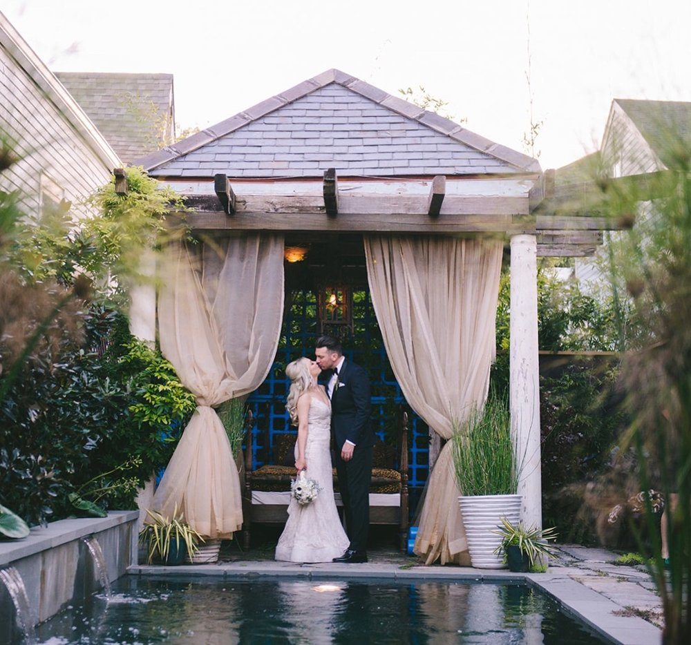 Intimate Wedding Ceremony in New Orleans Courtyard