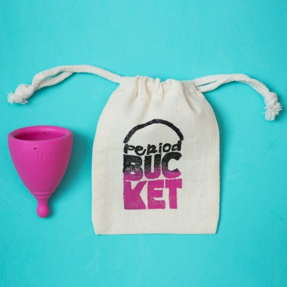 This    menstrual cup    from Etsy also comes with a little pouch to store it when it's not your time of the month!
