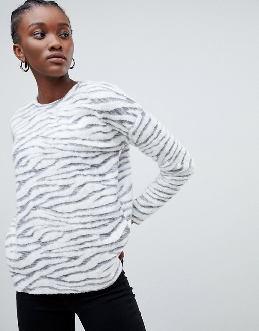 How amazing is this comfy looking zebra print New Look    jumper from Asos   ?!