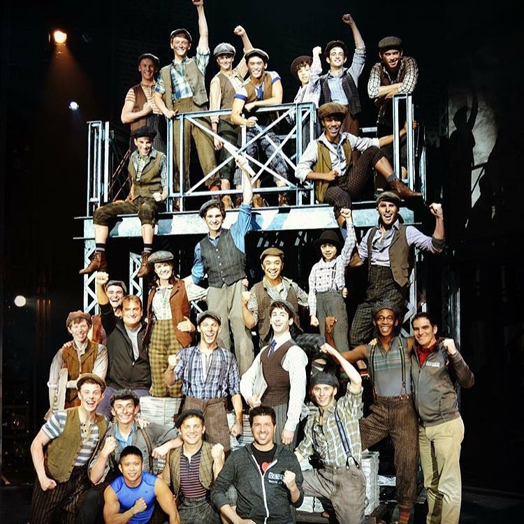 Cast of the 1st National Tour of Disney's NEWSIES
