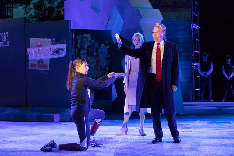 Julius Caesar , directed by Oskar Eustis. Shakespeare in the Park, 2017.
