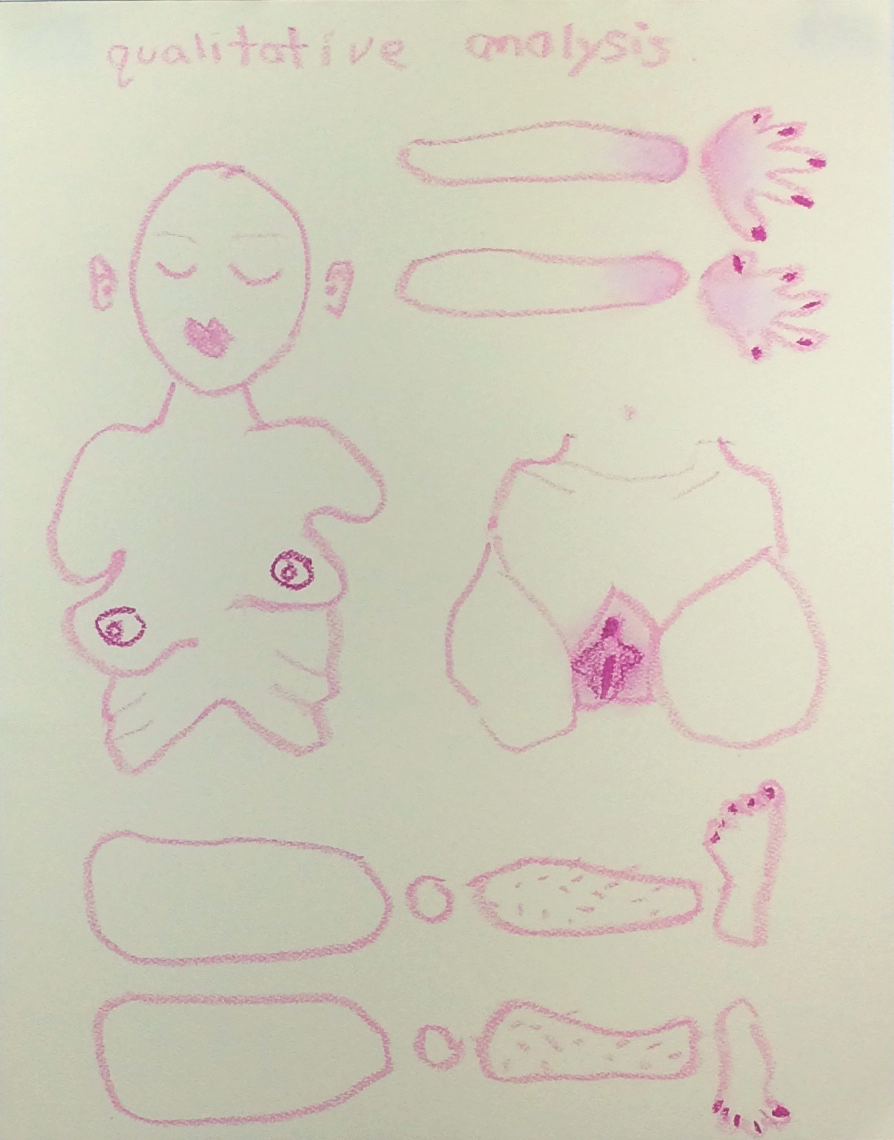 "Qualitative Analysis,  2016  11""14"" pastel on paper"