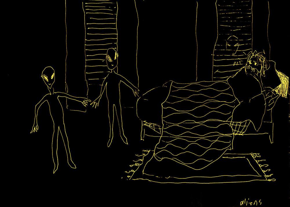 """Aliens, 2016  9""""x12"""" inkjet archival print"""