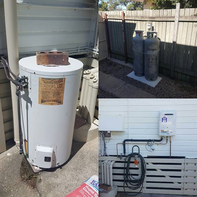This old Saxon Hot Water Unit had been causing our clients some grief with their power bills! We installed a new LPG system and a nice new #Rinnai Infinity instantaneous hot water unit! Made affordable using Certegy Ezi Pay.  #plumber #brisbaneplumber #gasfitter #hotwater