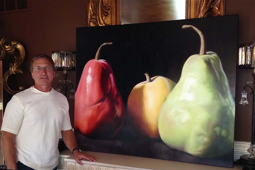 Three Pears being installed copy.jpg
