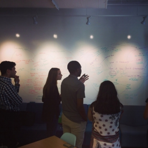 The Inspiring Capital undergraduate fellows hard at work in New York City. Photo courtesy of Inspiring Capital.