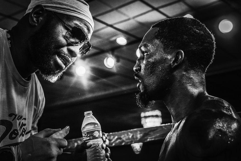 Domonique Dolton with trainer Jonath Banks