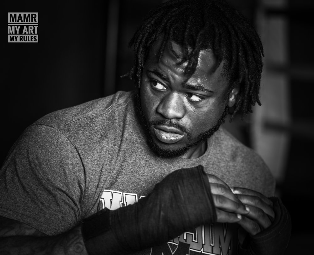Saiginaw's Jermaine Franklin Shadow Boxing