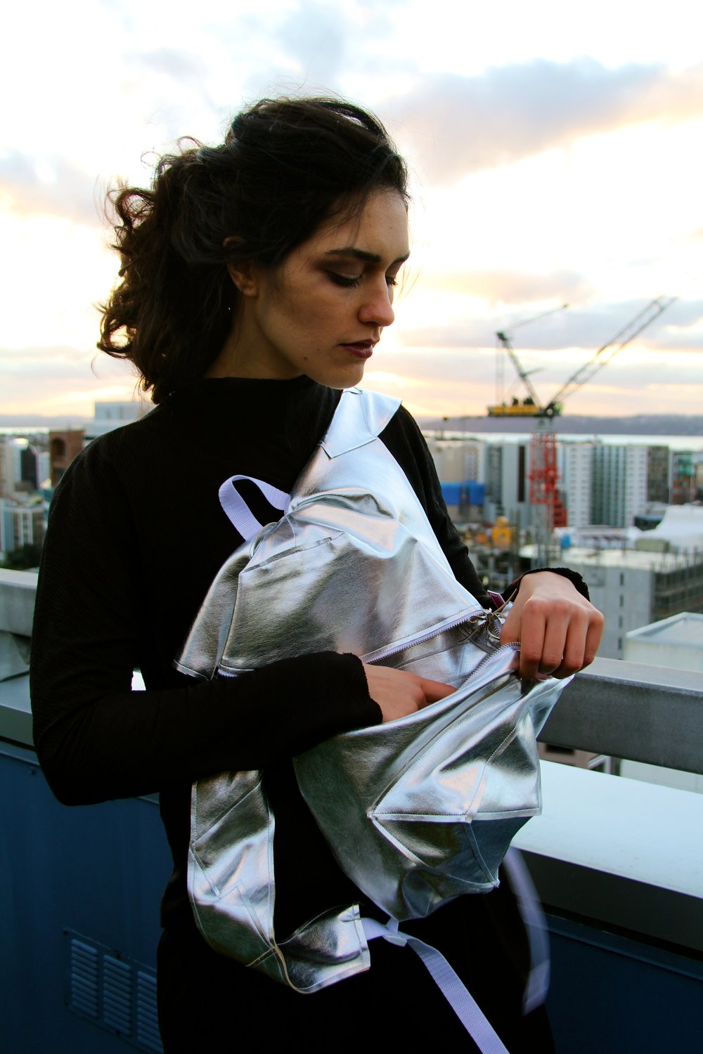 Camille Richard & Kendall Hayes Silver Cubism Backpack 2015 image 8.jpg