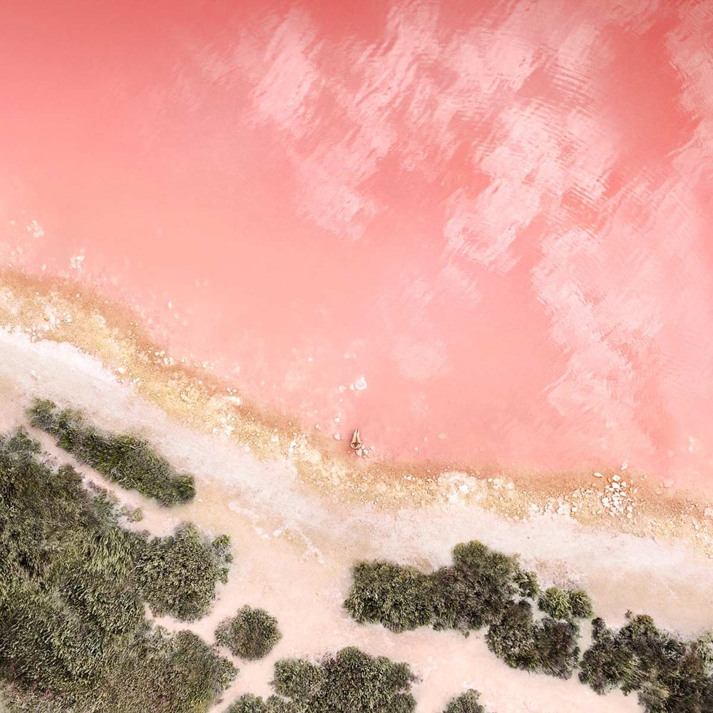 """iPad Pro 12.9"""" Wallpaper #2 'Rose Gold'   Torrevieja Lagoon, Alicente, Spain Photographer: Tobias Hägg -  @airpixels    High-res download ( from 10.3.3 beta )"""