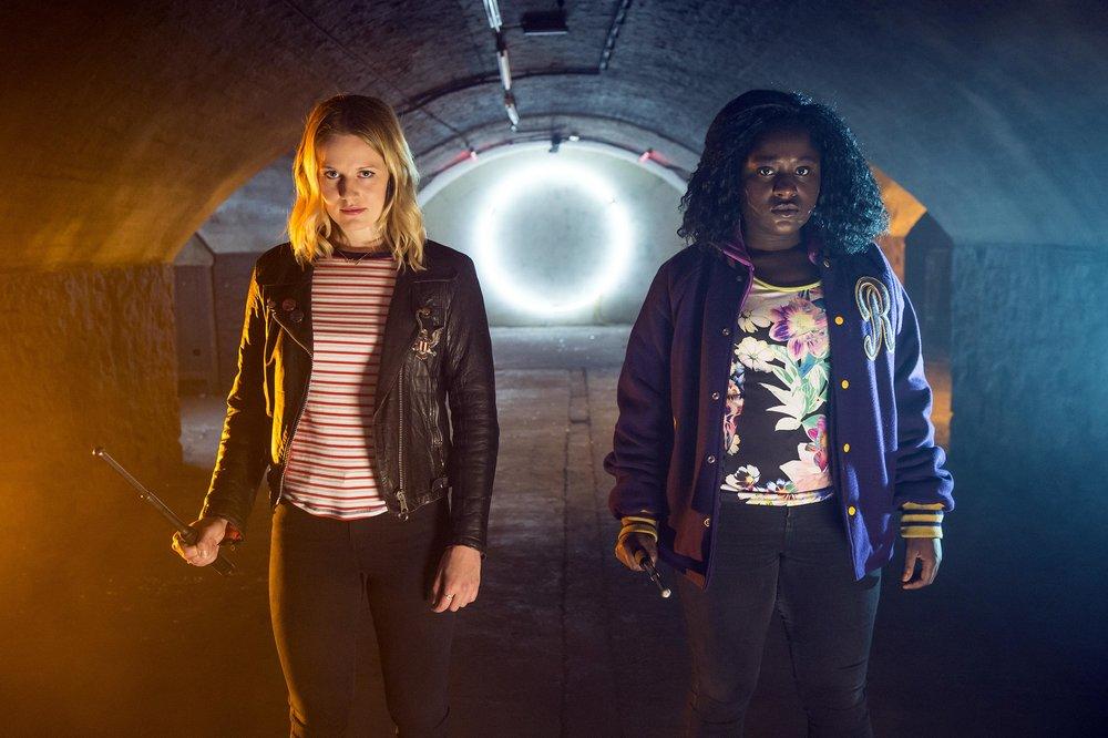 Slay Belles: Cara Theobold (Amy) and Susan Wokoma (Raquel) in Netflix's  Crazyhead