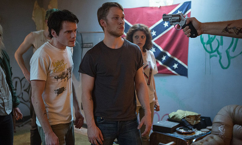 Killer Gig: Anton Yelchin (Pat), Joe Cole (Reece) and Alia Shawkat (Sam) in Netflix's  Green Room