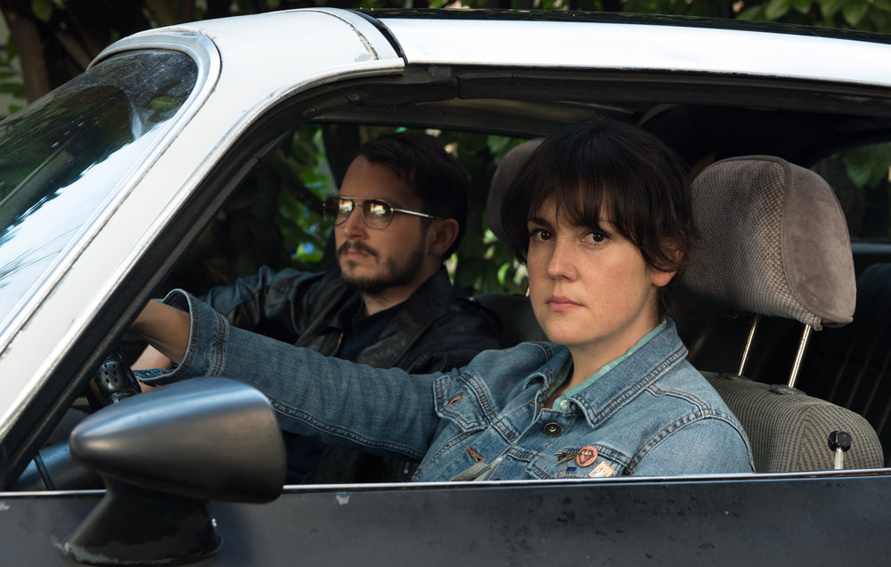 Watching the Defectives: Elijah Wood (Tony) and Melanie Lynskey (Ruth) in Netflix's  I Don't Feel at Home in This World Anymore