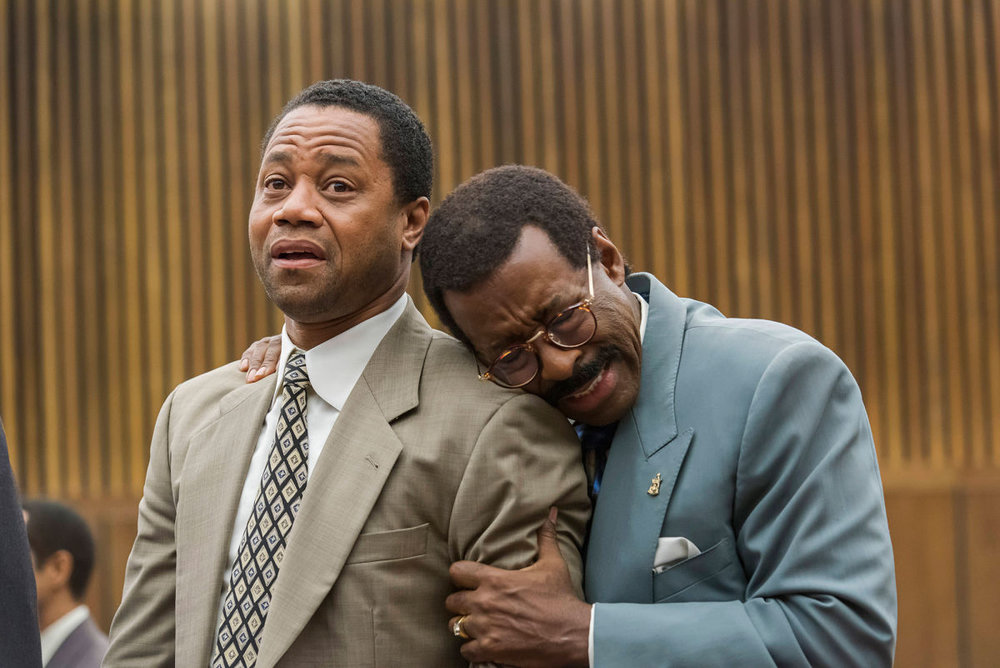 To Live and Cry in L.A.: Cuba Gooding, Jr. (O.J. Simpson) and Courtney B. Vance (Johnnie Cochran) in Netflix's  The People v. O.J. Simpson: American Crime Story