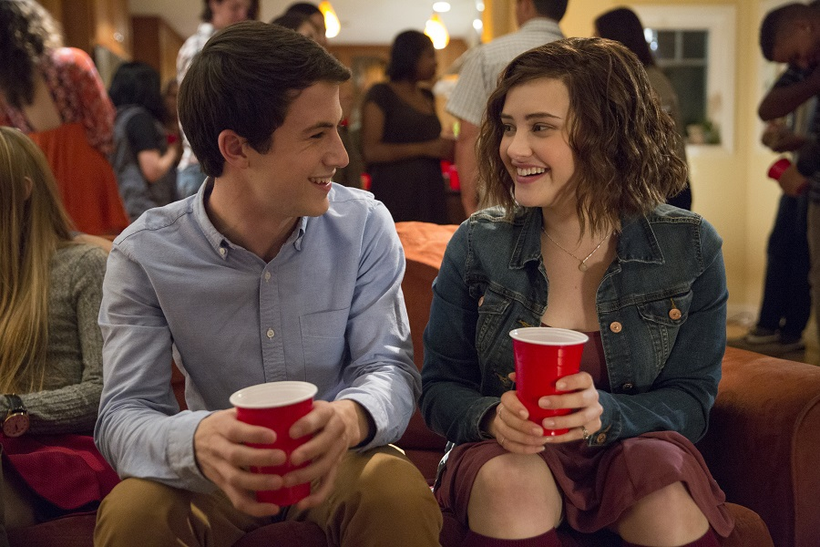 Taking Different Roads: Dylan Minnette (Clay) and Katherine Langford (Hannah) in Netflix's  Thirteen Reasons Why