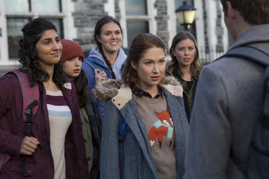 Campus Radical: Ellie Kemper (Kimmy Schmidt, centre) in Netflix's  Unbreakable Kimmy Schmidt