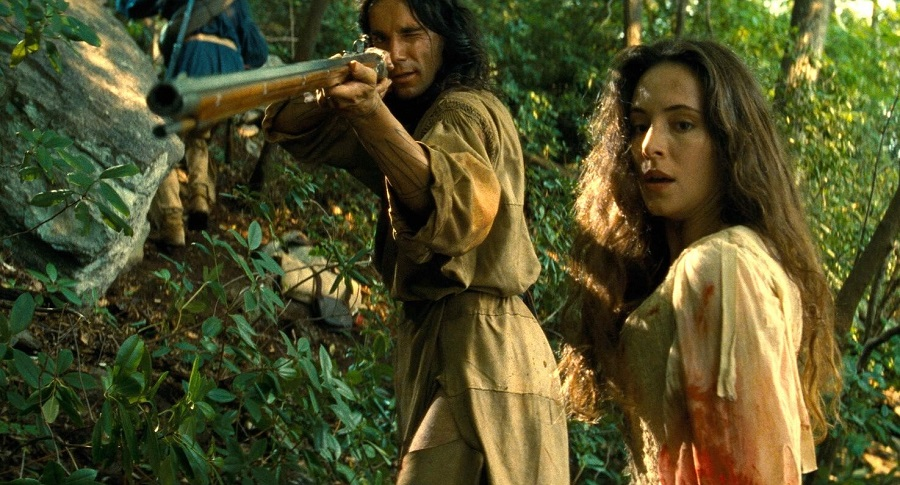 Firing Line: Daniel Day-Lewis (Hawkeye) and Madeleine Stowe (Cora) in Stan's  The Last of the Mohicans