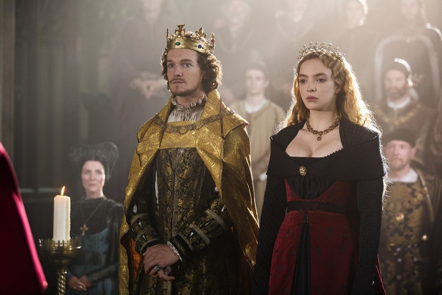 The Unhappy Couple: Jacob Collins-Levy (Henry VII) and Jodie Comer (Elizabeth) in Stan's  The White Princess