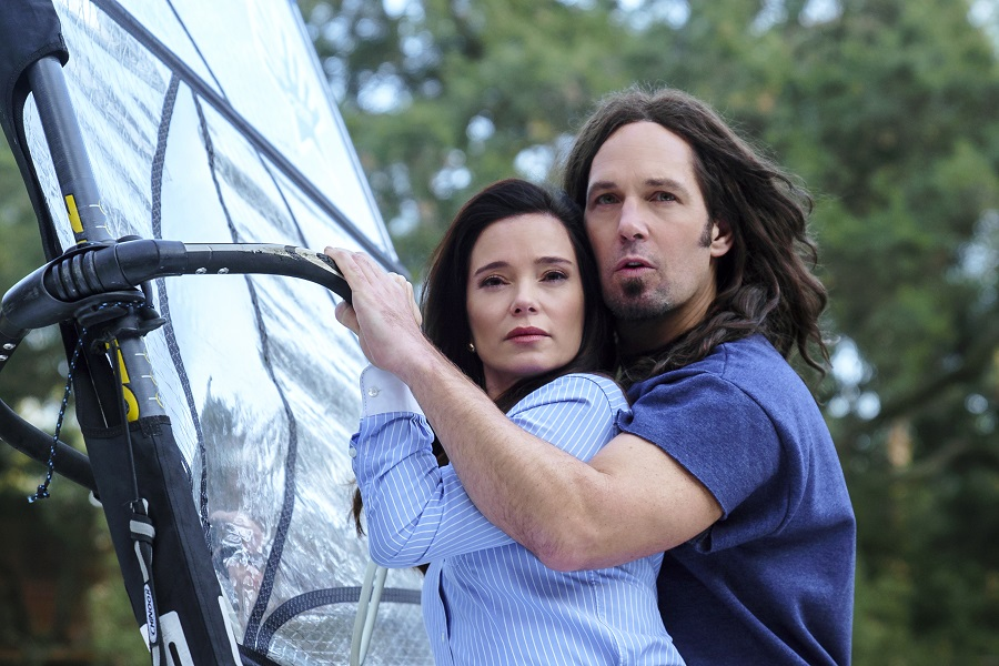 The Wind Beneath Their Winks: Marguerite Moreau (Katie) and Paul Rudd (Andy) in Netflix's  Wet Hot American Summer: Ten Years Later