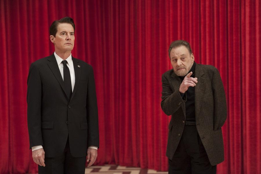 Seeing is Disbelieving: Kyle MacLachlan (Cooper) and Al Strobel (Mike) in Stan's  Twin Peaks