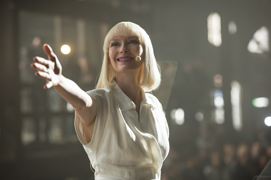 CE-woe: Tilda Swinton (Lucy Mirando) in Netflix's  Okja