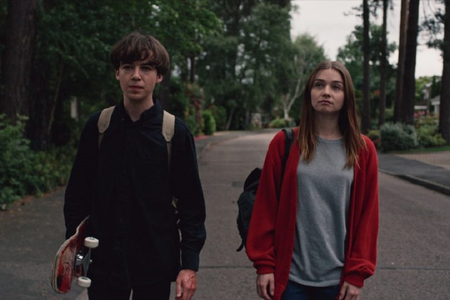 Darkness on the Edge of Town: Alex Lawther (James) and Jessica Barden (Alyssa) in Netflix's  The End of the F***ing World