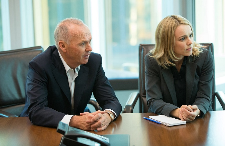 On the Record: Michael Keaton (Walter Robinson) and Rachel McAdams (Sacha Pfeiffer) in Netflix's  Spotlight