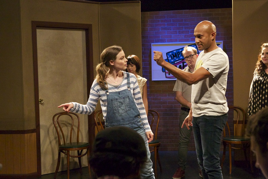 It's Just a Stage: Gillian Jacobs (Sam) and Keegan-Michael Key (Jack) in Netflix's  Don't Think Twice