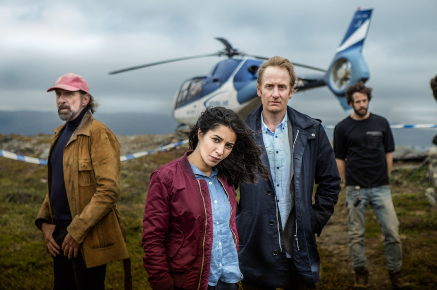 Northern Exposure: (L-R) Peter Stormare, Leila Bekhti, Gustaf Hammarsten and Richard Ulfsater in SBS On Demand's  Midnight Sun
