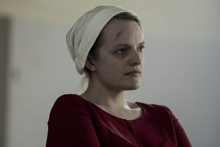 Gone Girl: Elisabeth Moss (June/Offred) in SBS on Demand's  The Handmaid's Tale