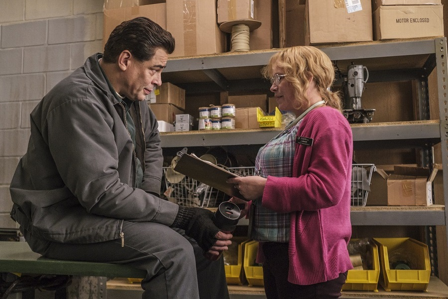 Jailhouse Blues: Benicio del Toro (Richard Matt) and Patricia Arquette (Tilly Mitchell) in  Escape at Dannemora