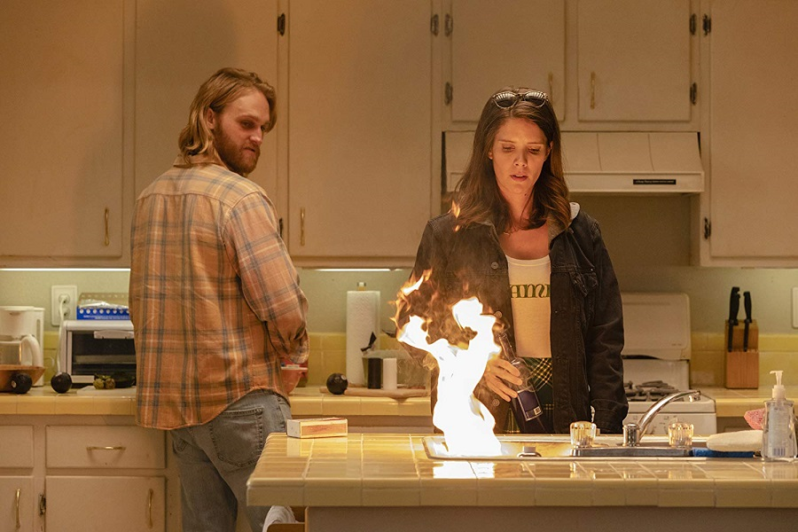 Keep the Home Fires Burning: Wyatt Russell (Dud) and Sonya Cassidy (Liz) in  Lodge 49
