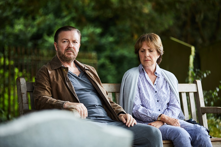 Tombstone Blues: Ricky Gervais (Tony) and Penelope Wilton (Anne) in  After Life