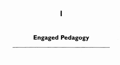 """Download a pdf of bell hooks' """"Engaged Pedagogy"""" by clicking  here ."""