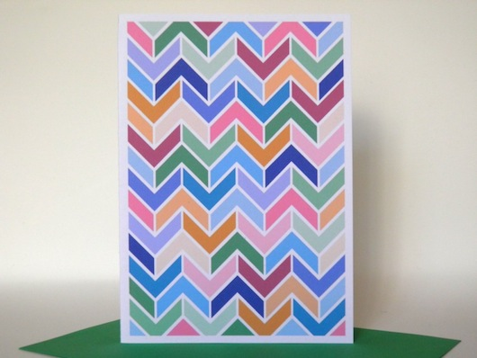 Penny Eager - Pocket Carnival zig zag card