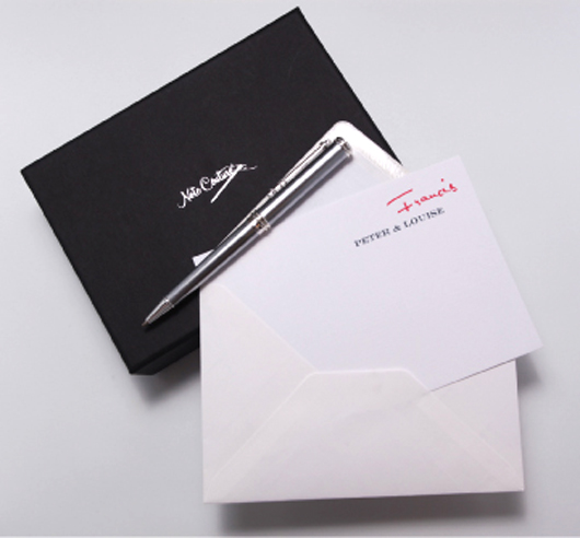 10% off Note Couture custom stationery