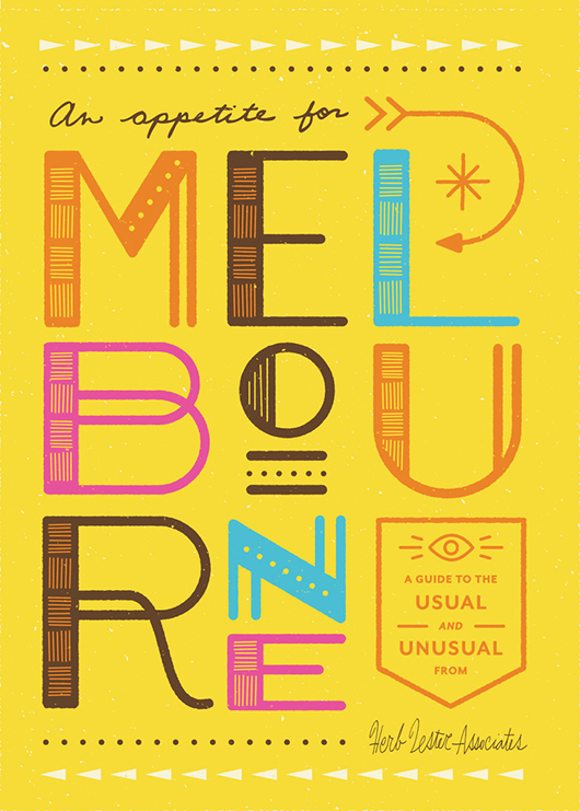 The cover of Leanne's publication 'An Appetite for Melbourne', published by Herb Lester