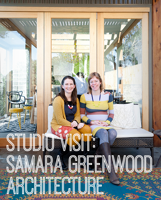 Samara Greenwood and Anna Castles outside SGArch's studio/pavilion – Photo by Martina Gemmola.