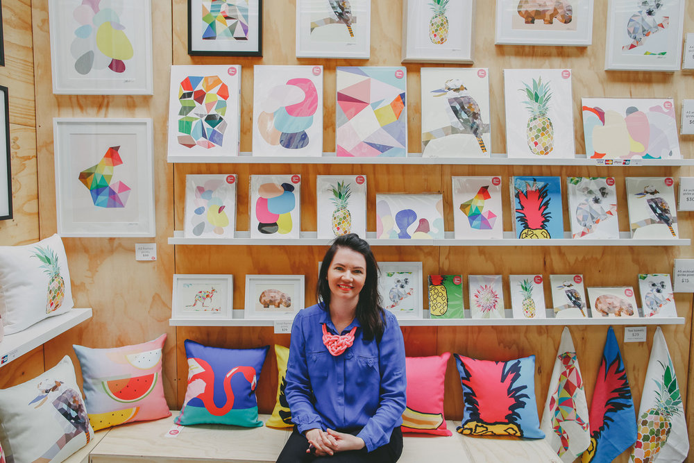 CWC Member Susie Monte with her  Drunk on Water  market stall. Photo by Elize Strydom