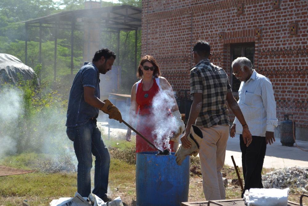 Raku firing in India