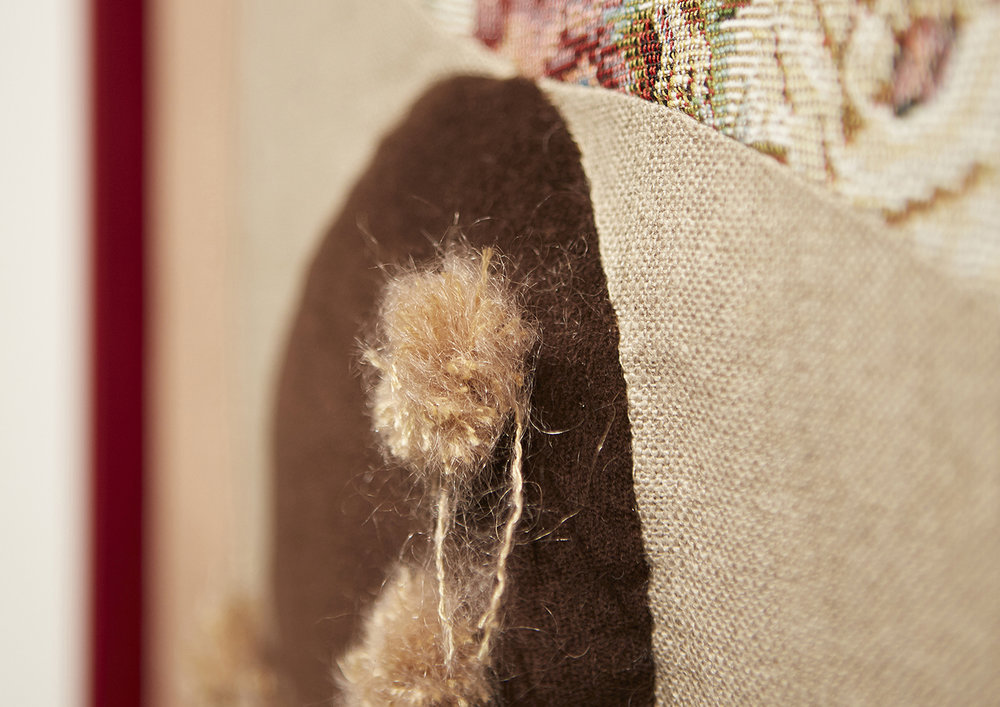 Detail of  Armchair Critic,  by Rhonda Pryor