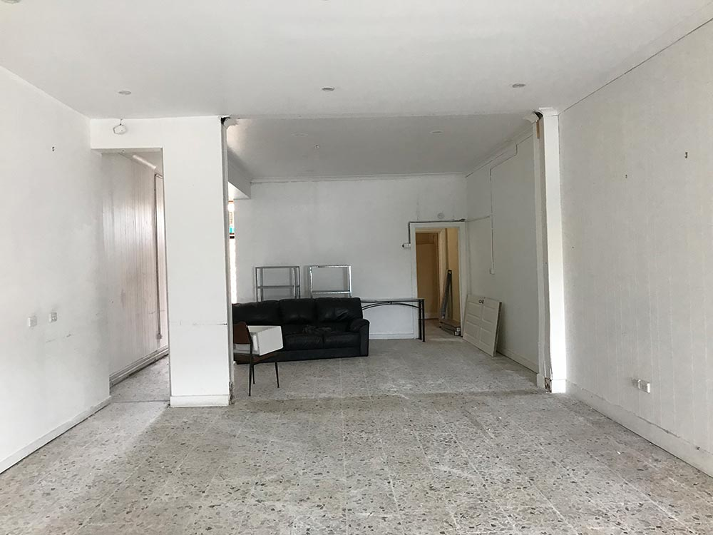 Before: What the space looked like when the lease was signed