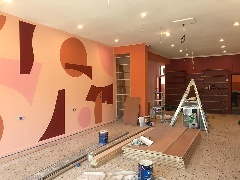 The mural goes up!