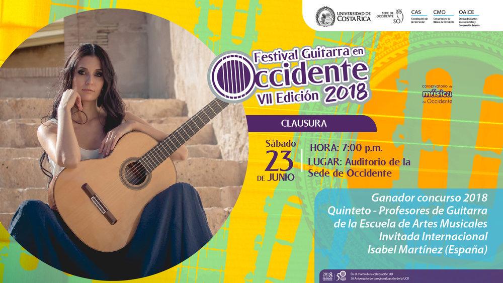 Isabel Martinez Festival Guitarra en Occidente Costa Rica